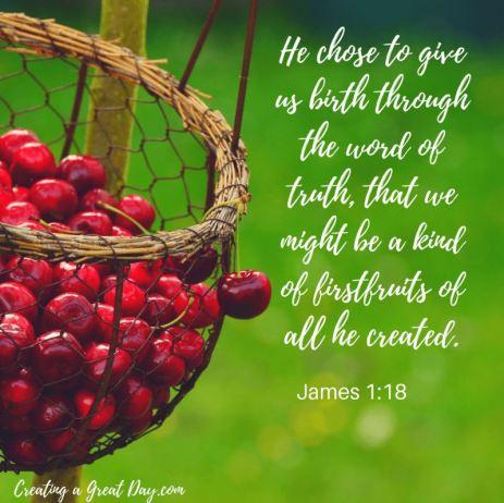 James 1_18 Reborn thru the Word of Truth - Firstfruits